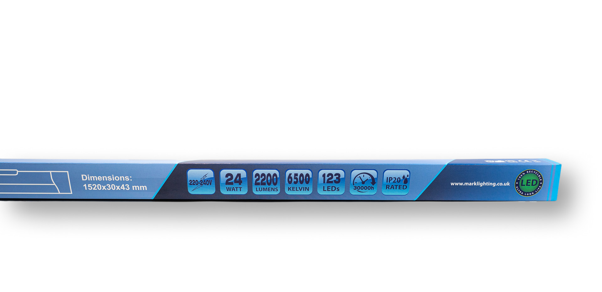 Slim Batten 4ft - 6500K Packaging