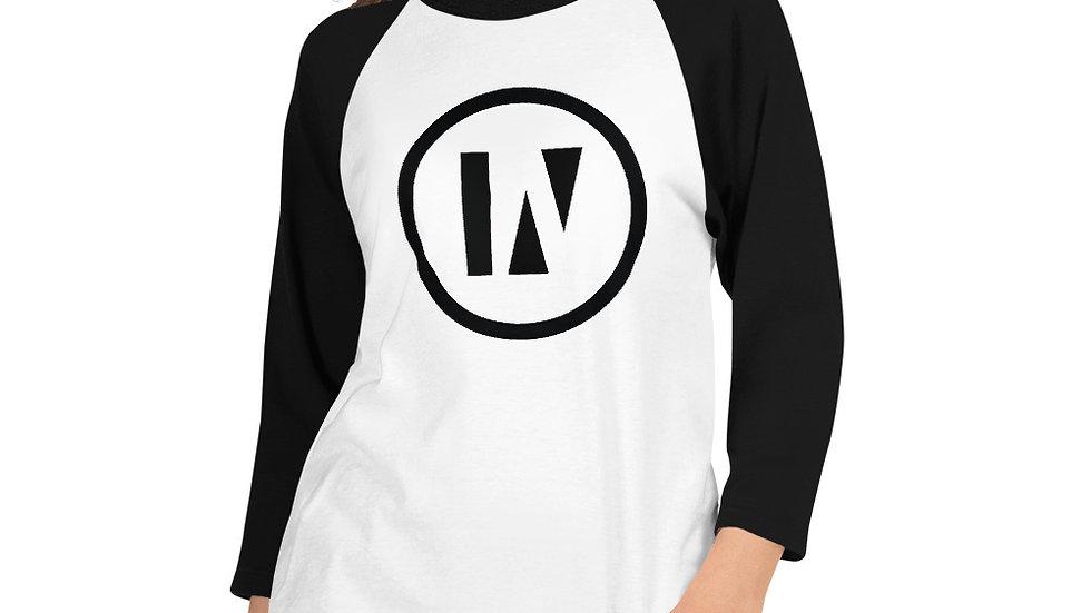 IN2U - Unisex 3/4 sleeve raglan shirt