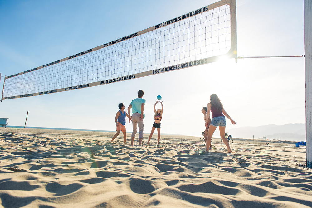 beach volleyball - team building and bonding games