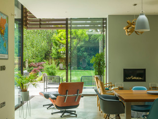 View of a modern garden designed by Cultivate Gardens in cambridge UK