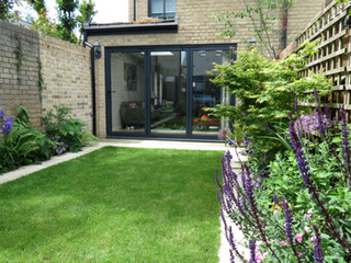 Landscaped garden in cambridge