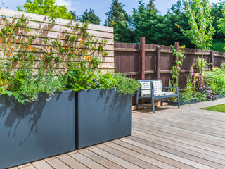Planters and deck