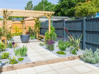 Contemporary garden in cambridge
