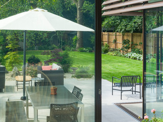 Picture of a modern garden created by a landscape designer in Cambridge