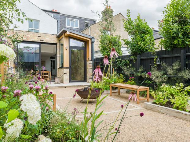 Newnham formal garden