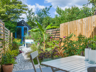 A contemporary garden designed by a landscape gardener baed in Cambridegshire
