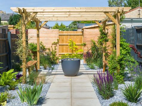 Clean and contemporary garden