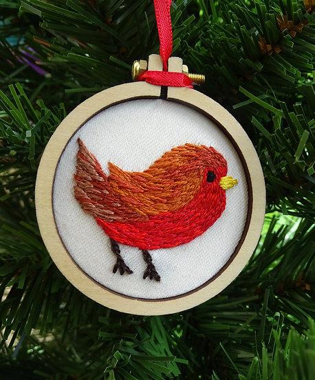 Luxury Robin Tree Christmas Hanging Tree Ornament