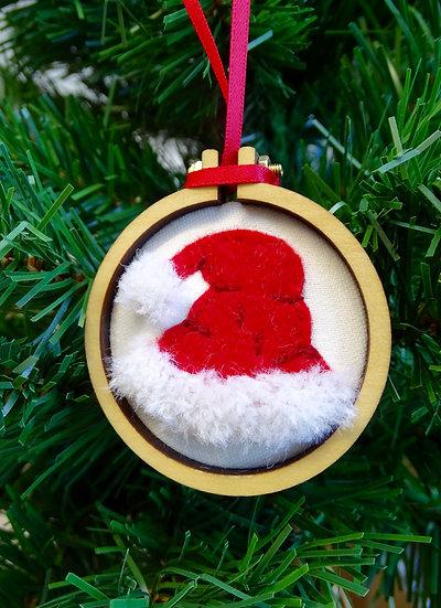 Santa's Fluffy Hat Christmas Ornament