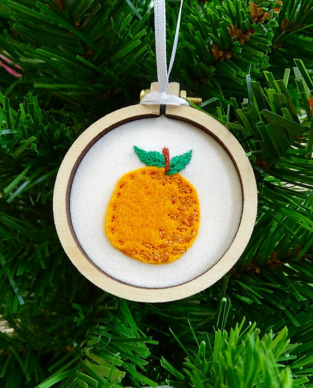 Orange Christmas Hanging Tree Ornament