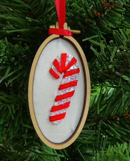 Candy Cane Christmas Hanging Tree Ornament