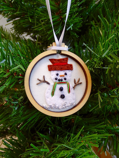 Snowman Christmas Hanging Tree Ornament