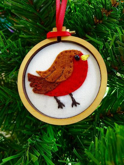 Robin Christmas Hanging Tree Ornament