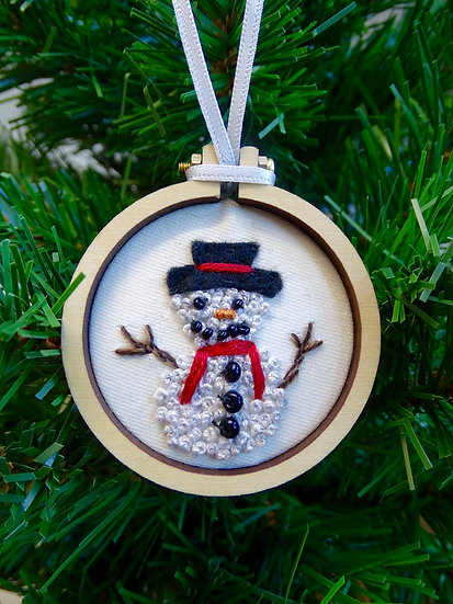 Knotty Snowman Christmas Hanging Tree Ornament
