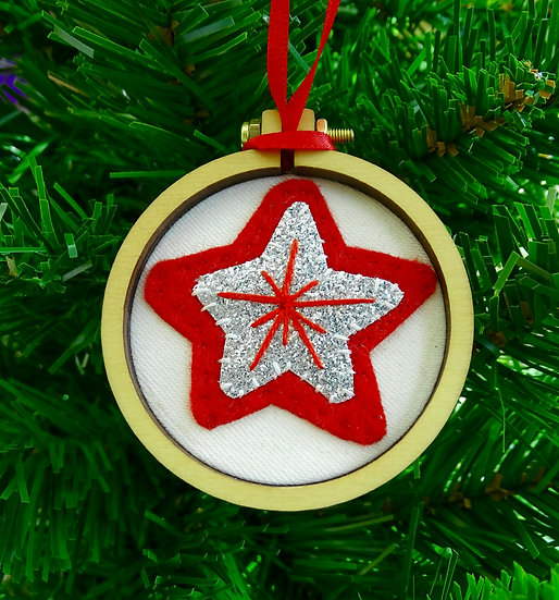 Star Christmas Hanging Tree Ornament