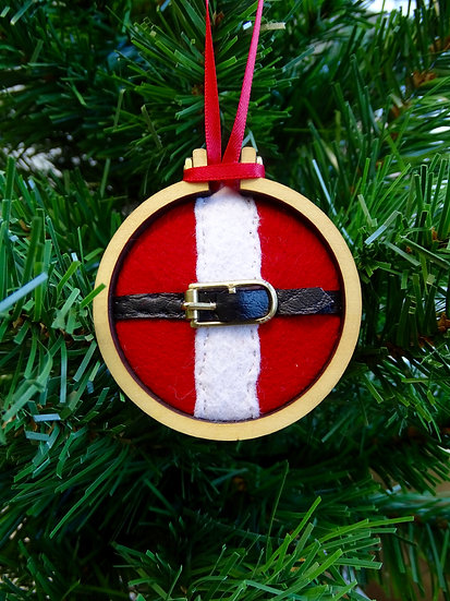 Santa's Tummy Christmas Hanging Tree Ornament