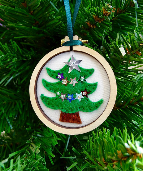 Round Tree Christmas Hanging Tree Ornament