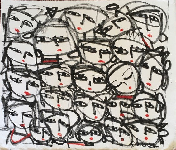 """White Faces with Red Lips"" by Rascal"