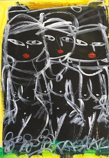 """3 Black Nude Women"" by Rascal"