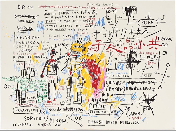 """Boxer Rebellion"" by Jean-Michel Basquiat"