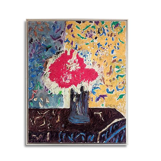 """""""Bouquet de fleurs sur un entablement"""" by H. Claude Pissarro"""
