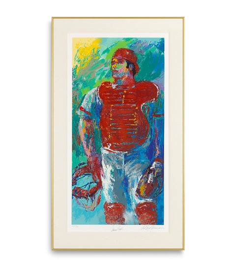 """""""Johnny Bench, The Catcher"""" by LeRoy Neiman"""