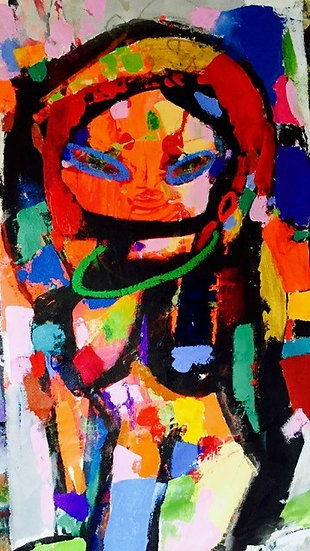 """Multi Colored Woman (2)"" by Rascal"