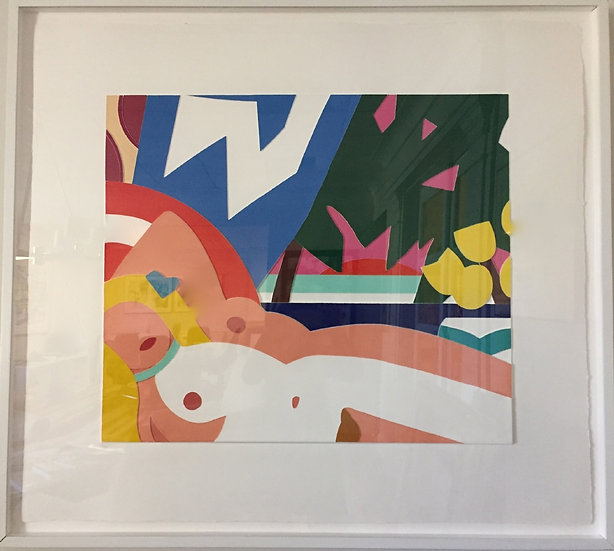 """Sunset Nude with Yellow Tulips"" by Tom Wesselmann"