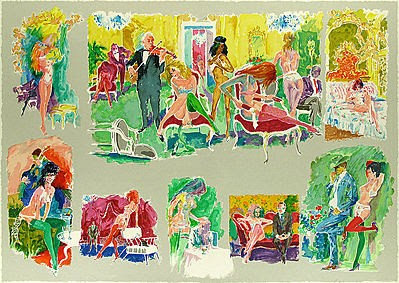 """Bordello"" by LeRoy Neiman"