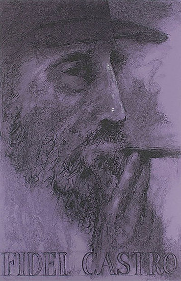 """Fidel Castro"" by LeRoy Neiman"