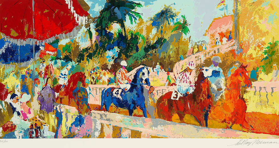 """Leaving the Paddock"" by LeRoy Neiman"