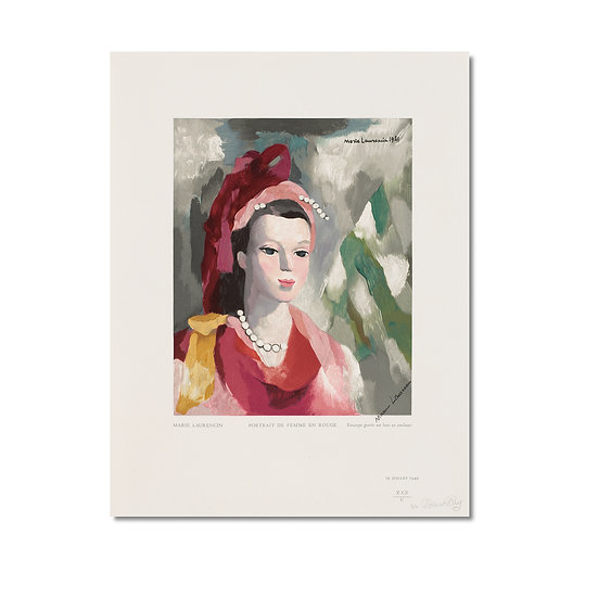 Portrait De Femme En Rouge