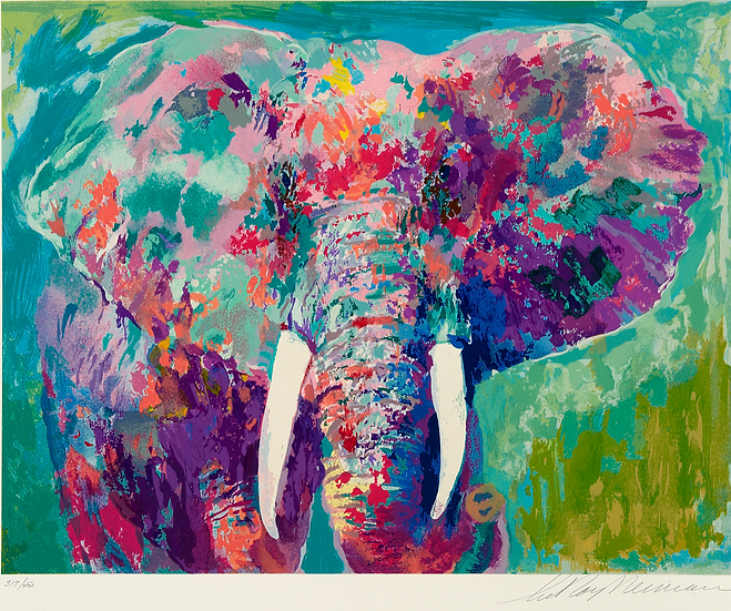 """Charging Bull"" by LeRoy Neiman"