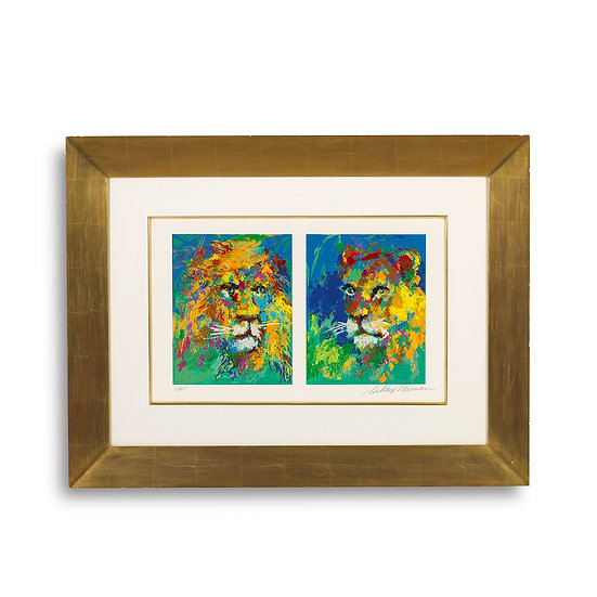 """Lion and Lioness"" by LeRoy Neiman"