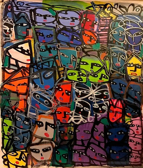 """Brightly Colored Faces"" by Rascal"