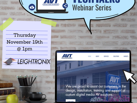 Visual Communications for Municipalities and Schools with AVT and Leightronix