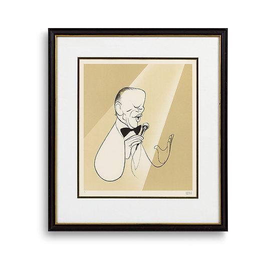 """""""Frank Sinatra, Chairman of the Board"""" by Al Hirschfeld"""
