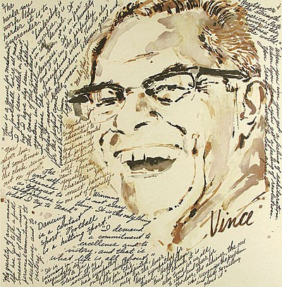 """Vince Lombardi"" by LeRoy Neiman"