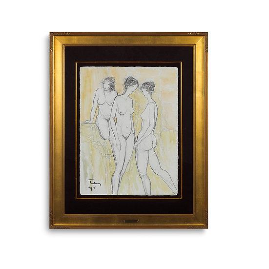 """""""Three Nude Women"""" by Itzchak Tarkay"""
