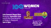 100 Women Late Summer Happy Hour!