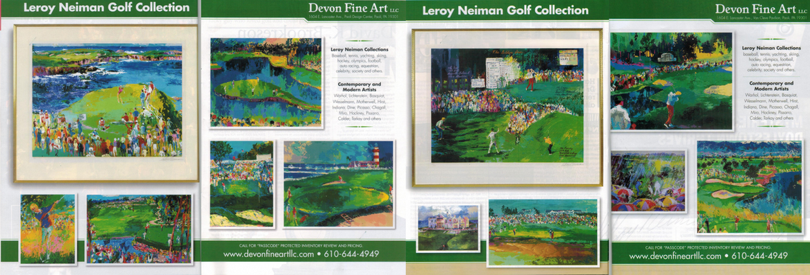 Leroy Neiman Golf collection Magazine.pn
