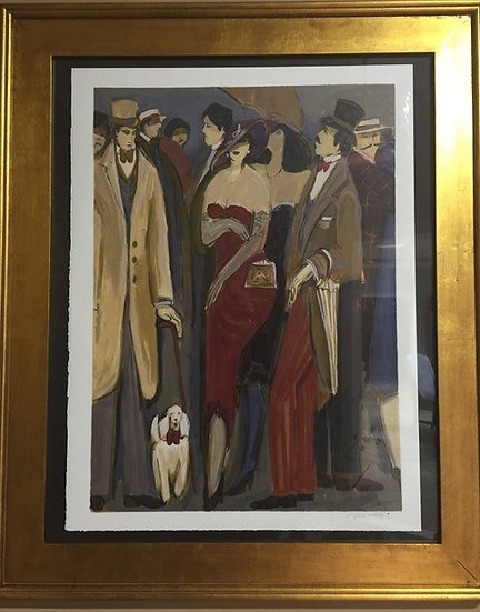"""""""Woman in Brown Dress"""" by Isaac Maimon"""