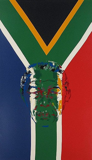 """President Nelson Mandela"" by LeRoy Neiman"