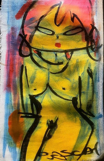 """Mini Yellow Nude"" by Rascal"