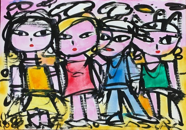 """4 Pink Girls"" by Rascal"