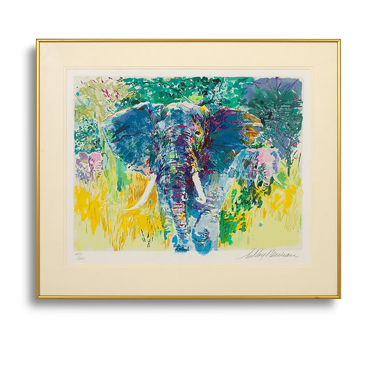 """Bull Elephant (The Safari Suite)"" by LeRoy Neiman"