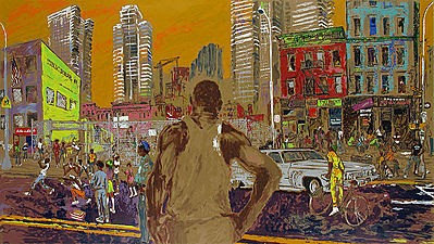 """Harlem Streets (Cities in Schools)"" by LeRoy Neiman"