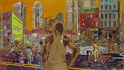 """Harlem Streets (Cities in Schools)"" by LeRoy Neiman"