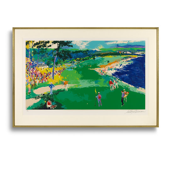 """""""The 18th at Pebble Beach"""" by LeRoy Neiman"""