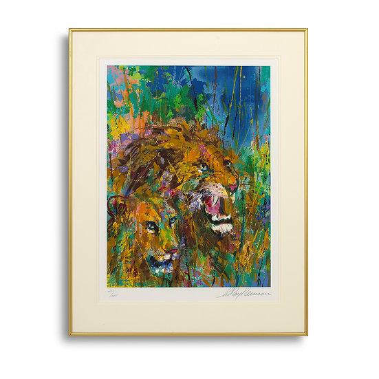 """Lions (The Safari Suite)"" by LeRoy Neiman"